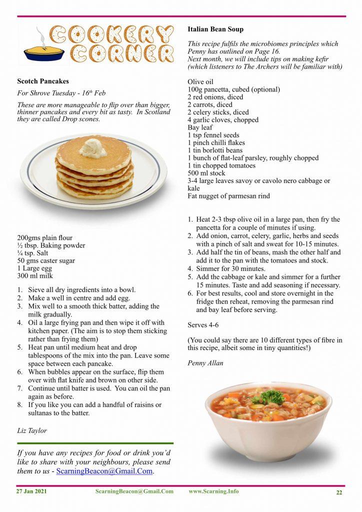 Pancakes & Bean Soup